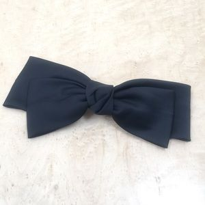 Black satin bow Free People